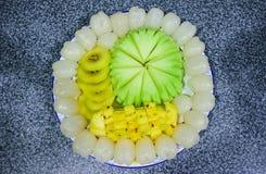 Un piatto della frutta Fotografia Stock Libera da Diritti