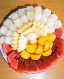Un piatto della frutta Fotografia Stock