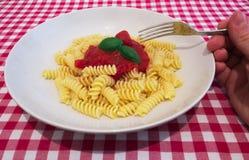 Un piatto di pasta italiana Fotografia Stock Libera da Diritti