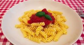 Un piatto di pasta italiana Immagini Stock Libere da Diritti