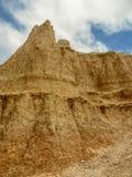 Un picco al Sud Dakota del parco nazionale dei calanchi immagine stock libera da diritti