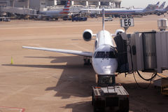 Un piccolo aereo a Dallas Immagini Stock Libere da Diritti