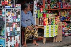 Un piccolo deposito del mercato in Bali Immagini Stock Libere da Diritti