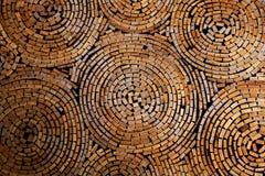 Un piccolo di legno è sistema progettare la struttura di legno per fondo Fotografie Stock Libere da Diritti