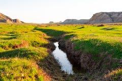Un piccolo fiume negli altopiani Immagine Stock