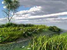 Un piccolo fiume in primavera Immagine Stock Libera da Diritti