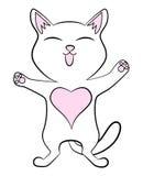 Un piccolo gattino sveglio bianco immagini stock