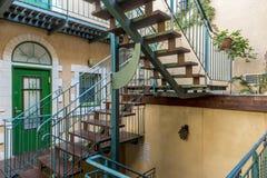 Un piccolo hotel nel centro di Gerusalemme Israele fotografia stock