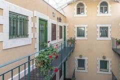 Un piccolo hotel nel centro di Gerusalemme Israele fotografie stock