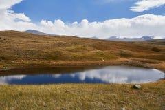 Un piccolo lago nella steppa, caduta fra le montagne Il Ukok P Fotografia Stock Libera da Diritti