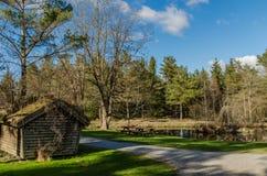 Un piccolo lago in parco nazionale norvegese fotografia stock libera da diritti