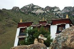 Un piccolo Lamasery tibetano Immagini Stock Libere da Diritti