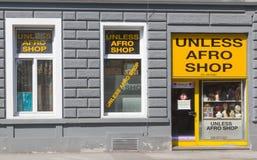 Un piccolo negozio a Graz Austria Fotografia Stock Libera da Diritti