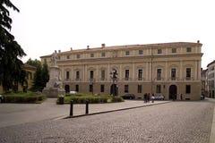 Un piccolo quadrato piacevole di Vicenza Immagini Stock