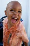 Un piccolo ragazzo bello dell'afroamericano Fotografie Stock Libere da Diritti