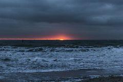 Un piccolo tramonto fotografie stock