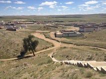 Un piccolo villaggio in Mongolia Interna, Cina Immagini Stock Libere da Diritti