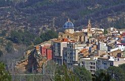 Un piccolo villaggio spagnolo Immagine Stock Libera da Diritti