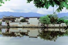 Un piccolo villaggio in supporto Huangshan, Cina, è chiamato Hongcun, appena come la bellezza della pittura del paesaggio fotografie stock libere da diritti