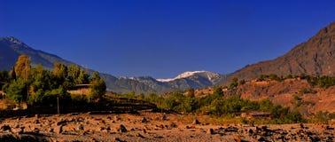 Un piccolo villaggio vicino il pensionante dell'India e del Pakistan Fotografia Stock Libera da Diritti