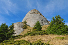 Un pico de montaña Foto de archivo libre de regalías