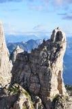 Un pico rocoso Fotografía de archivo