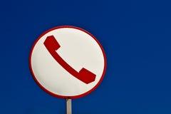 Un pictogramme de téléphone. Photos stock