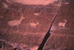 Un pictographe créé par les Indiens antiques images stock