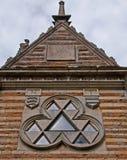 Un pignon à la loge triangulaire de Rushton Photos libres de droits
