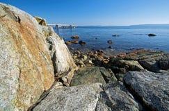 Un pilastro di pesca Fotografie Stock