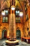 Un pilier d'éducation dans la cathédrale de l'étude image stock