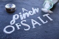 Un pincement de sel Photos libres de droits