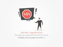 un pirata di 404 pagine illustrazione vettoriale