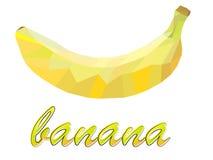 Un plátano geométrico dibujado en estilo bajo-polivinílico Imagen de archivo