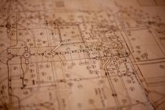 Un plan de papier photo stock