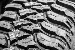 Un plan rapproché d'un pneu de représentation Images stock
