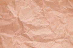 Un plan rapproché de papier chiffonné Fragment d'un sac de papier chiffonné Photos libres de droits