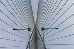 Un plan rapproché de pont de Sri Wawasan Image stock