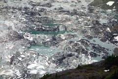Un plan rapproché des bouilloires glaciaires au hyder Images libres de droits