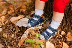 Un plan rapproché des pieds de bébé Photo stock