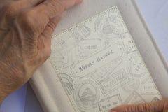 Un planificador semanal hecho a mano Imagen de archivo libre de regalías