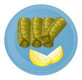 Un plat avec les nourritures saines Photographie stock