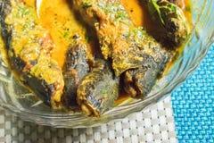 Un plat complètement de la délicatesse de poissons de Tyangra, bengali et indienne Photographie stock libre de droits