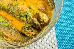 Un plat complètement de la délicatesse de poissons de Tyangra, bengali et indienne Image stock