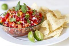 Frites et Salsa Photographie stock