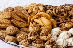 Un plat de chebakiah traditionnel images stock