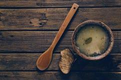 Un plat de soupe Image stock