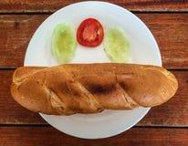 Un plat des batons de pain Photo libre de droits