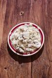 Un plat des boulettes Photographie stock libre de droits