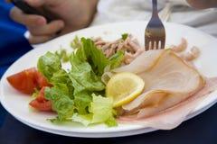 Un plateful di alimento Fotografia Stock Libera da Diritti